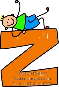 Letter z clipart clip freeuse stock Clipart Image of A Happy Little Boy Climbing Over A Giant ... clip freeuse stock
