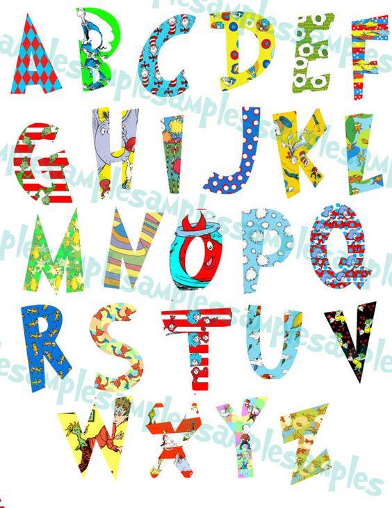 Letters clip art printable image transparent Dr. Seuss Alphabet Clipart Printable, Font, Alphabet Letters cat ... image transparent