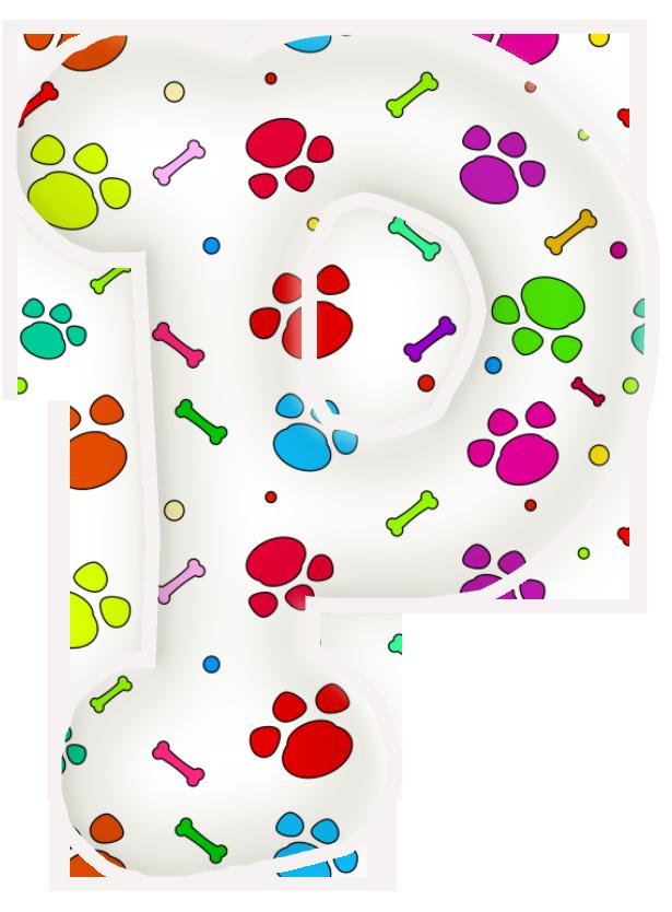 Letters clip art printable banner freeuse stock Alfabeto de huellas de perritos....P   letras para el cumple ... banner freeuse stock