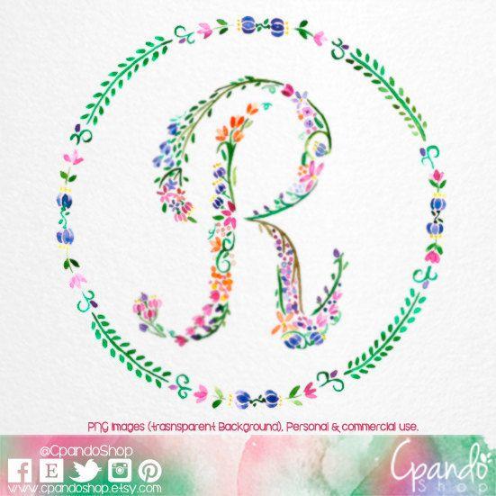 Letters clip art printable library Letter r, floral r, monogram r, initial r, letter clip art, Letter ... library