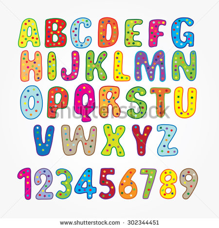 Letters for kids clipart freeuse library Kids Letters Stock Images, Royalty-Free Images & Vectors ... freeuse library