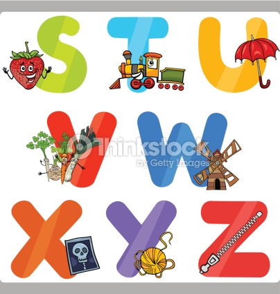 Letters for kids clipart jpg black and white library Education Cartoon Alphabet Letters For Kids Vector Art | Thinkstock jpg black and white library