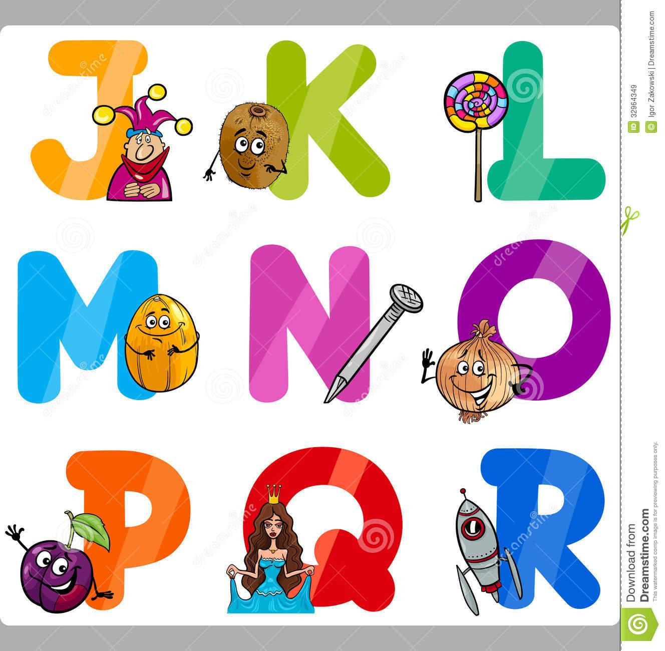 Letters for kids clipart clip art transparent library Education Cartoon Alphabet Letters For Kids Royalty Free Stock ... clip art transparent library