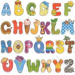 Letters for kids clipart clip transparent library 4 single paper decoupage napkins. Alphabet, letters, kids design ... clip transparent library
