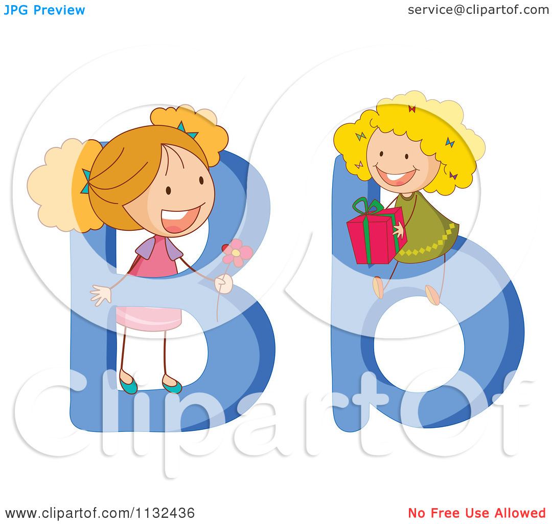 Letters for kids clipart svg freeuse stock Cartoon Of Alphabet Kids And Letters B - Royalty Free Vector ... svg freeuse stock
