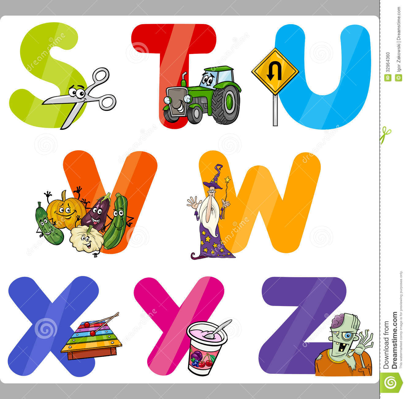 Letters for kids clipart clipart free Education Cartoon Alphabet Letters For Kids Stock Photo - Image ... clipart free