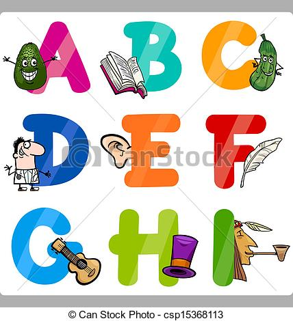 Letters for kids clipart png royalty free stock Vector Clip Art of Education Cartoon Alphabet Letters for Kids ... png royalty free stock