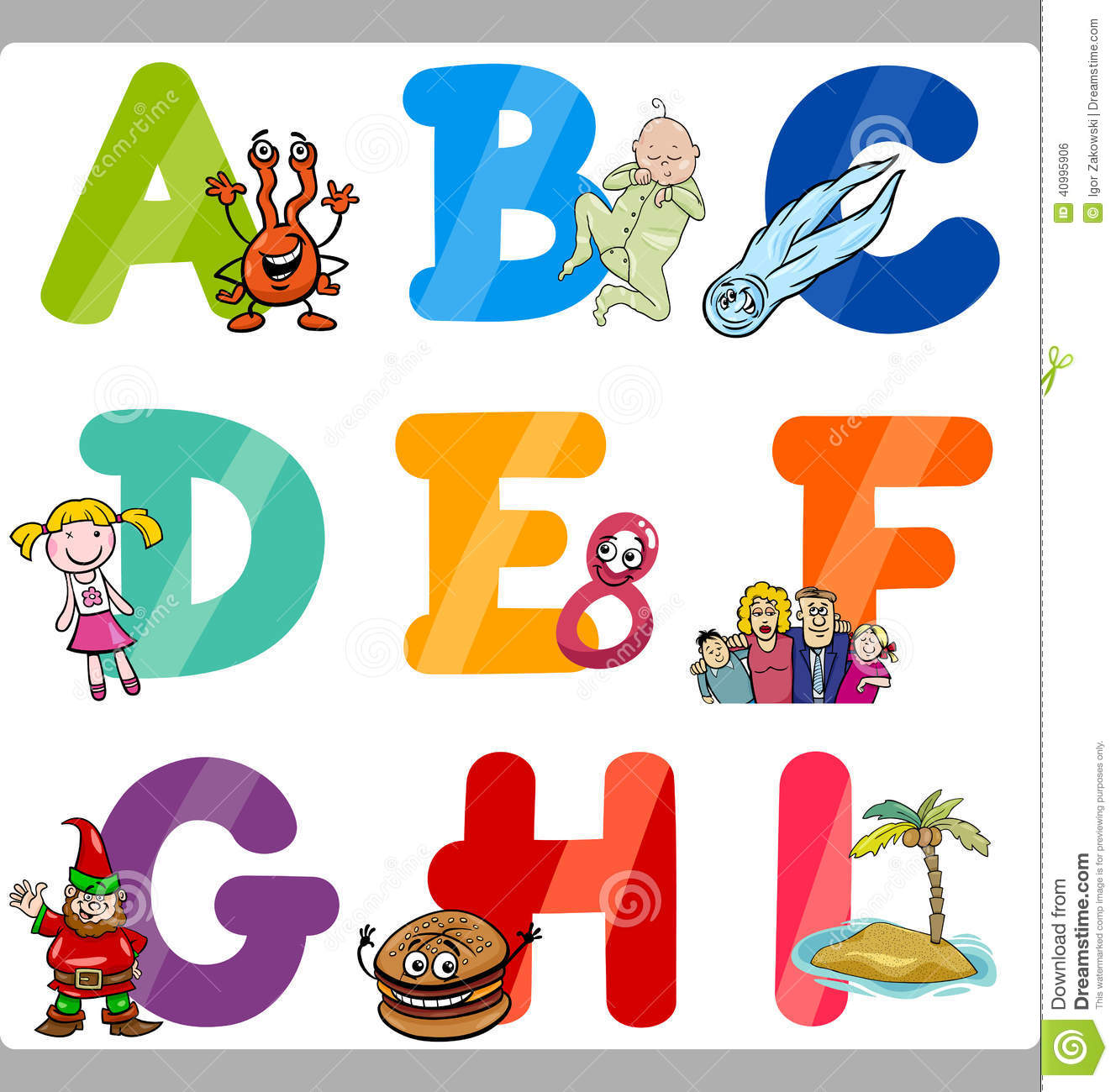 Letters for kids clipart clip art free library Education Cartoon Alphabet Letters For Kids Stock Vector - Image ... clip art free library