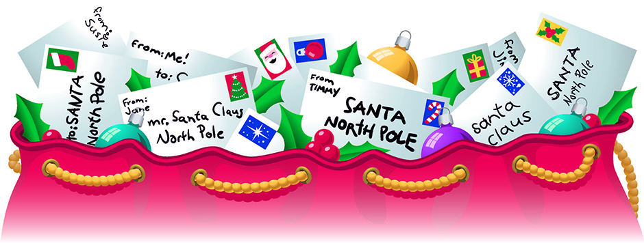 Letters to santa clipart jpg black and white Letters to Santa 2017 - The Community News jpg black and white