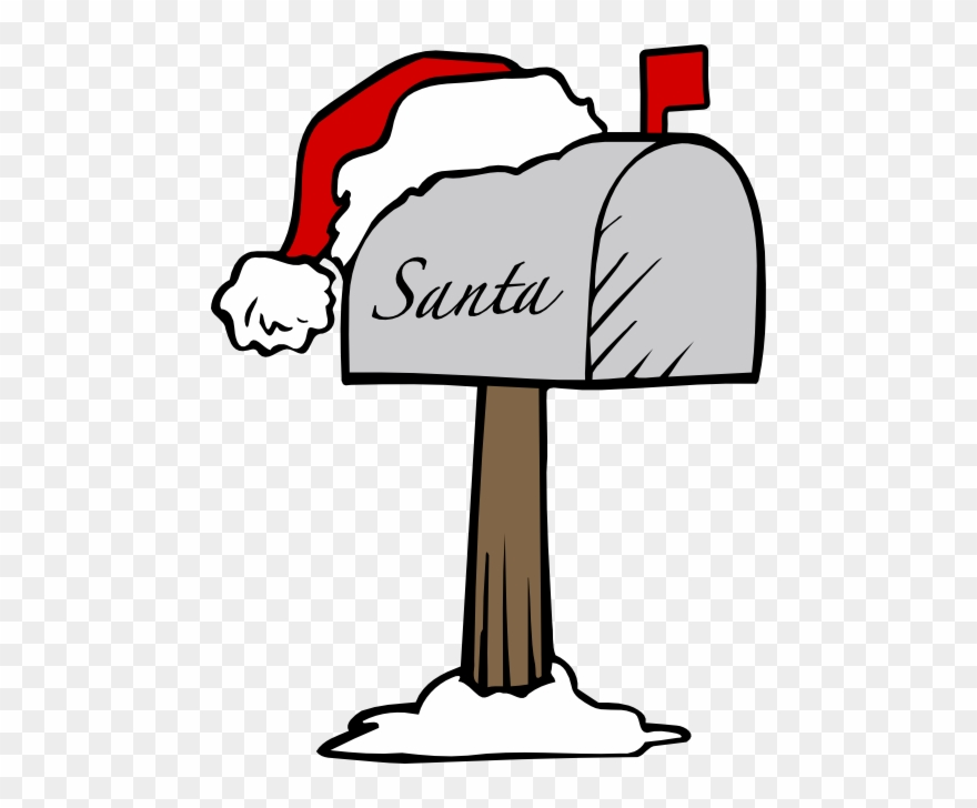 Letters to santa clipart banner royalty free download Santas Mailbox - Letter To Santa Clipart - Png Download ... banner royalty free download