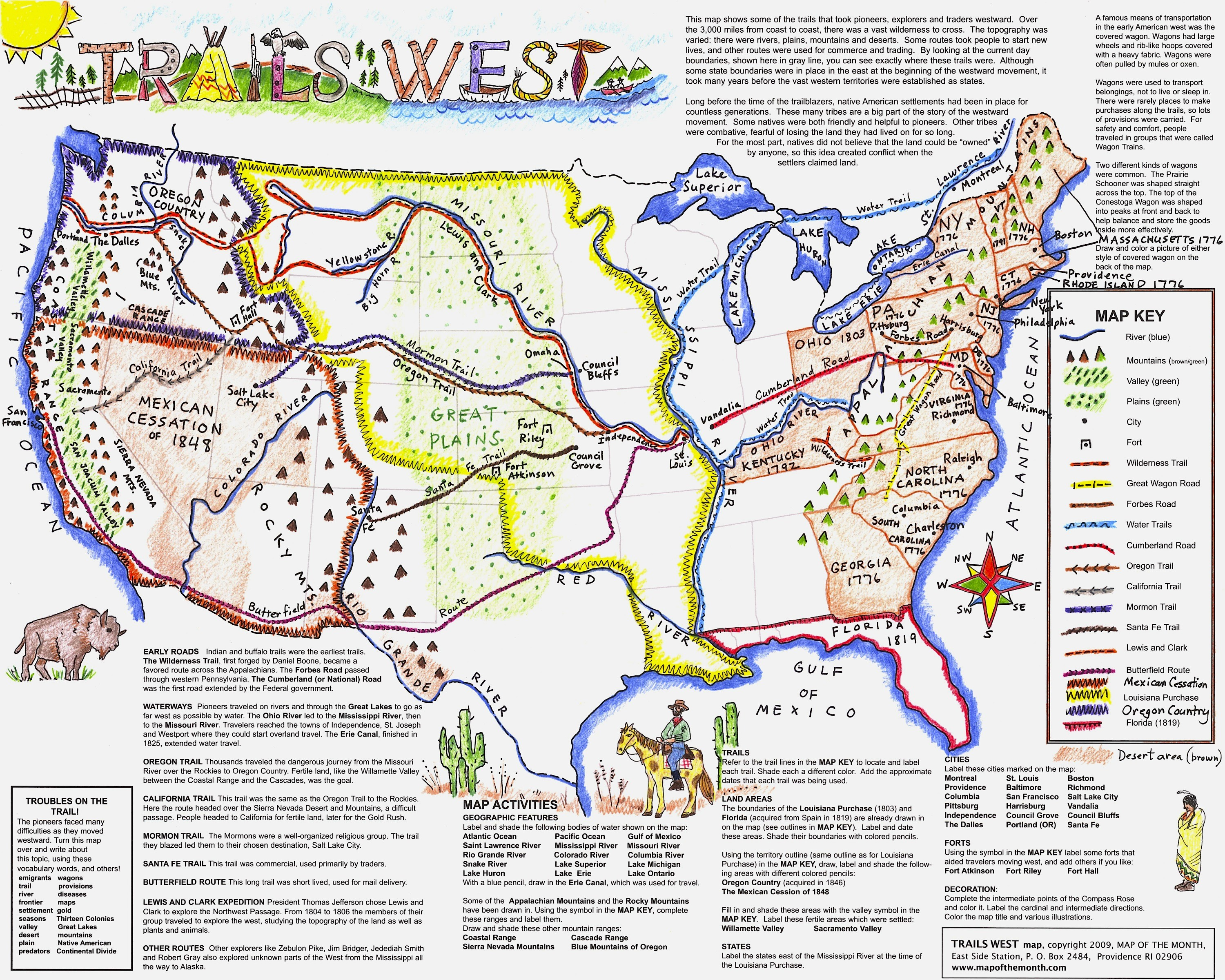 Lewis and clark map rivers rocky mountains clipart clip art library Mapping the Lewis and Clark Expedition in your classroom ... clip art library
