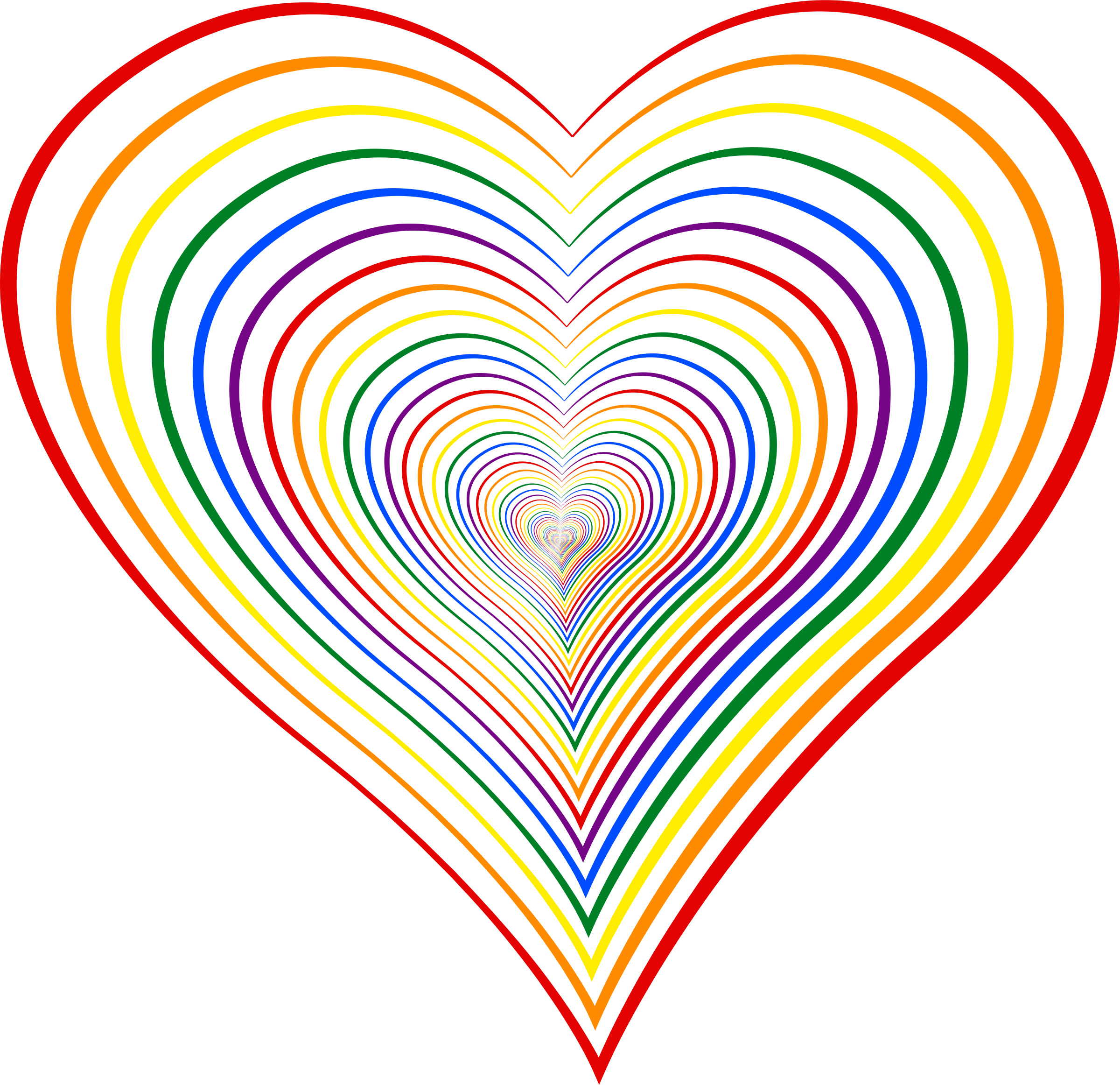 Lgbt heart clipart image royalty free library Clipart - Heart 8 (colour 2) image royalty free library