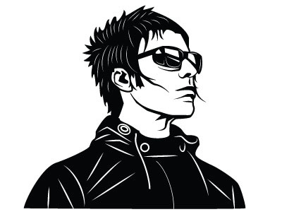 Liam gallagher clipart banner freeuse download Liam Gallagher Vector Image by Vectorportal on Dribbble banner freeuse download