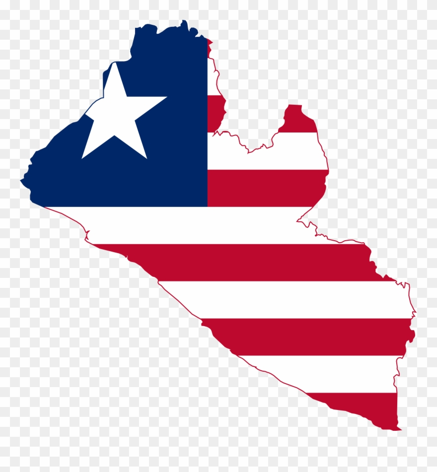 Liberia map clipart with transparent background picture library library Rise Liberia - Map Of Liberia With Flag Clipart (#1469929 ... picture library library