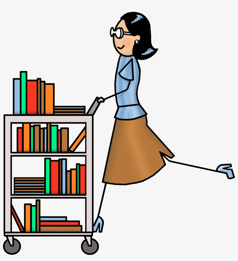 Librariam clipart transparent stock Clipart Library Librarian - Library Book Cart Clip Art ... transparent stock