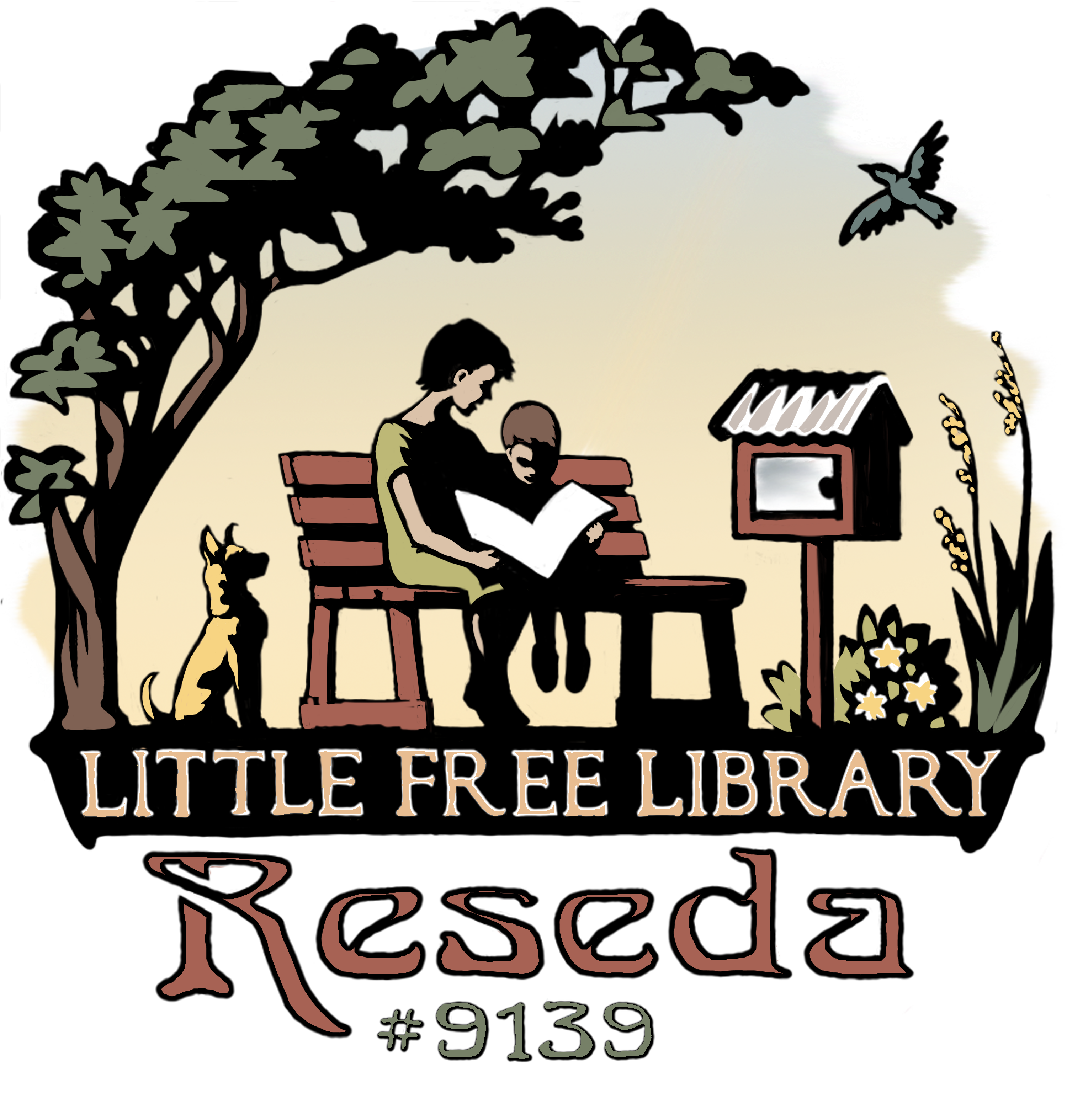 Library book return clipart graphic royalty free library Little Free Library Reseda Promo Materials   Tire Swing Ideas ... graphic royalty free library