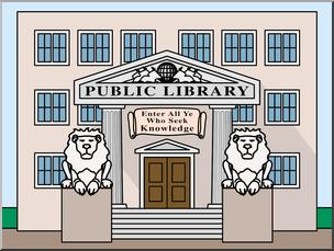Library building clipart jpg stock Clip Art: Buildings: Library Color I abcteach.com | abcteach jpg stock