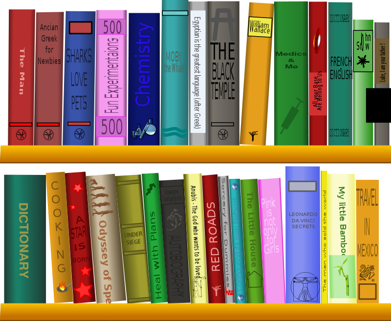 Library shelf clipart png free stock Free Clipart: Library - Bibliothèque | cyberscooty png free stock