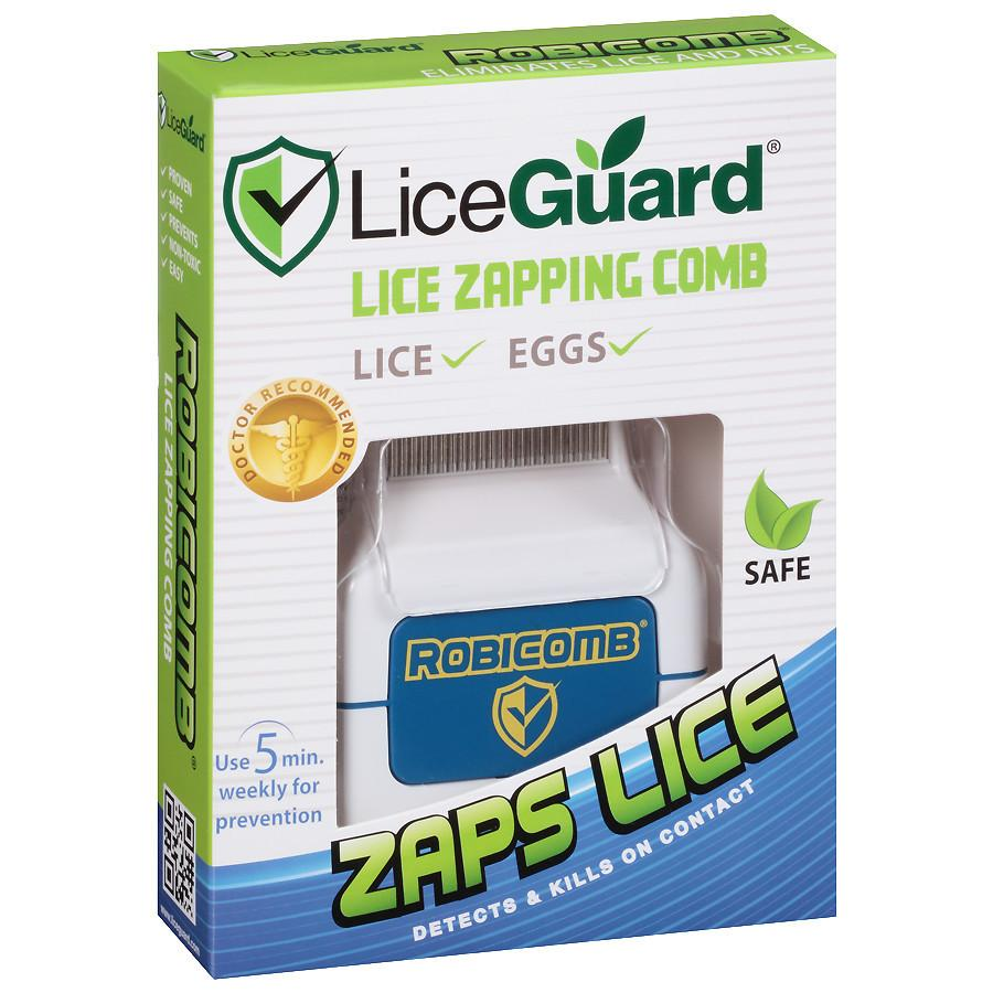 Lice zapper - battery operated robi comb clipart banner black and white LiceGuard Robi Comb Electronic Lice Comb banner black and white