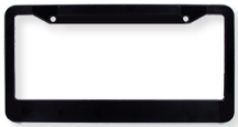 License plate frame clipart image freeuse library Black Plastic License Plate Holder - California Style - Each image freeuse library