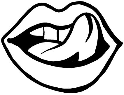 Licking lips clipart vector library download Amazon.com: hBARSCI Licking Lips Vinyl Decal - 5\