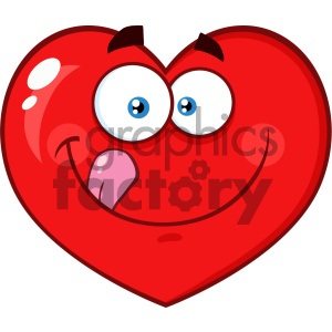 Licking lips clipart clip transparent download Hungry Red Heart Cartoon Emoji Face Character Licking His Lips Vector  Illustration Isolated On White Background clipart. Royalty-free clipart #  404617 clip transparent download