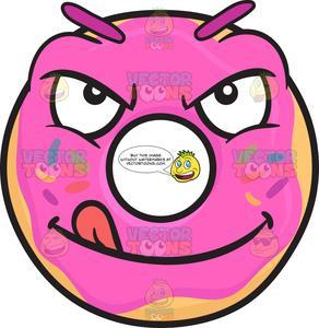 Licking lips clipart clip art transparent stock Mischievous Look On Donut Licking Lips Emoji clip art transparent stock
