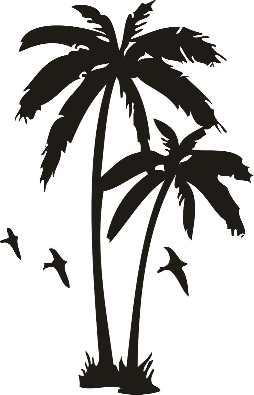 Life is good palm trees and sunset clipart image freeuse stock Flying Birds And Palm Tree Tattoos Design | نخل | Tree tattoo ... image freeuse stock