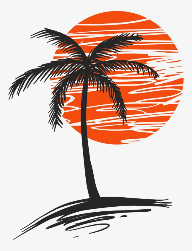 Life is good palm trees and sunset clipart freeuse Illustration Of Palm Trees, Vector Material, Palm PNG Transparent ... freeuse