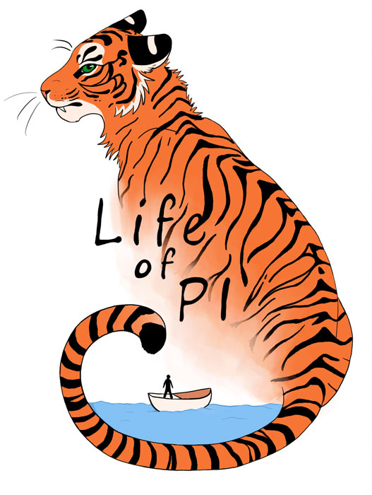 Life of pi clipart svg black and white download Jaya Griggs Illustration | Life of Pi - ClipArt Best - ClipArt Best svg black and white download