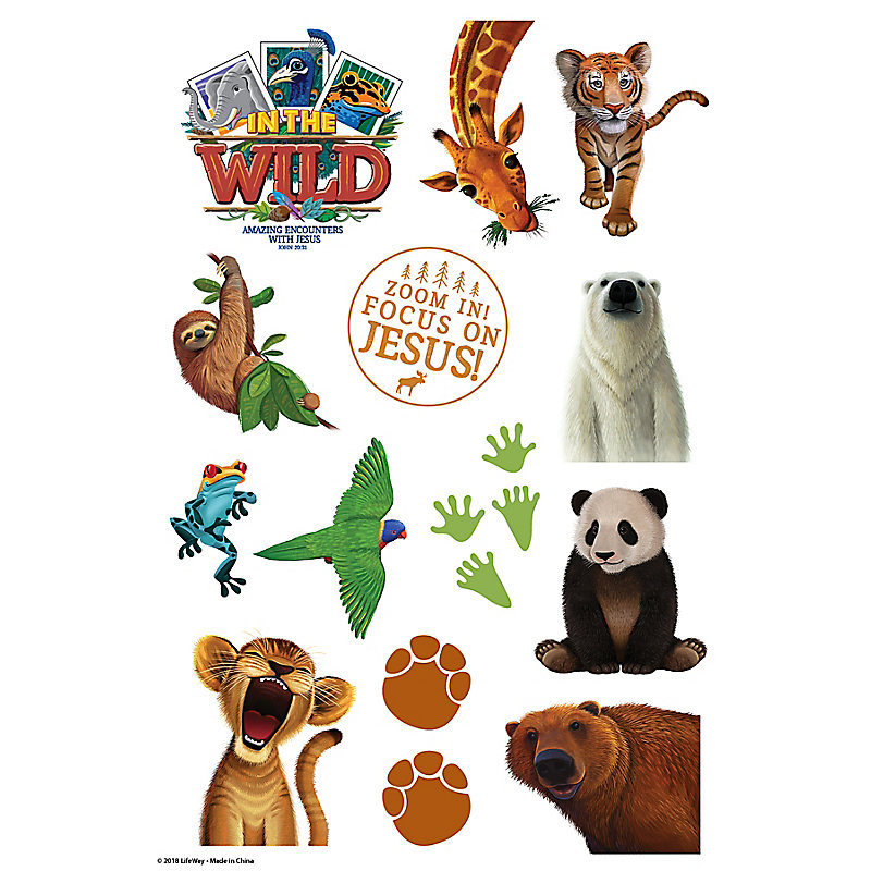 Lifeway vbs 2019 in the wild animals clipart clip library library VBS 2019 Theme Stickers 10 Sheets clip library library