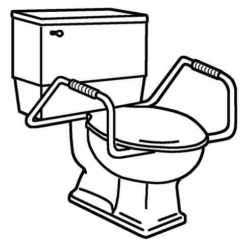 Lift the seat clipart black and white clipart black and white stock Toilet Seats | Church Big John Centoco | SloanRepair.com Plumbing ... clipart black and white stock