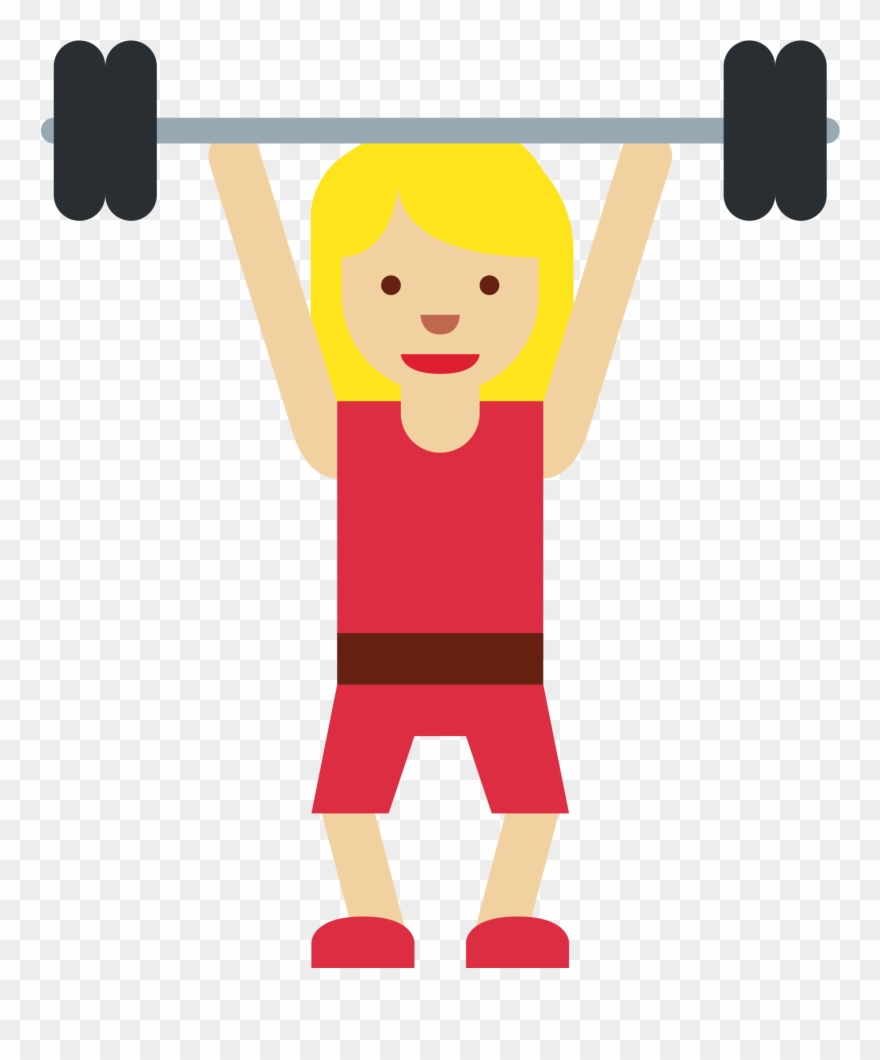 Lifting clipart image black and white library Weight Lifting Clipart 17, Buy Clip Art - Women Weight Lifting Emoji ... image black and white library