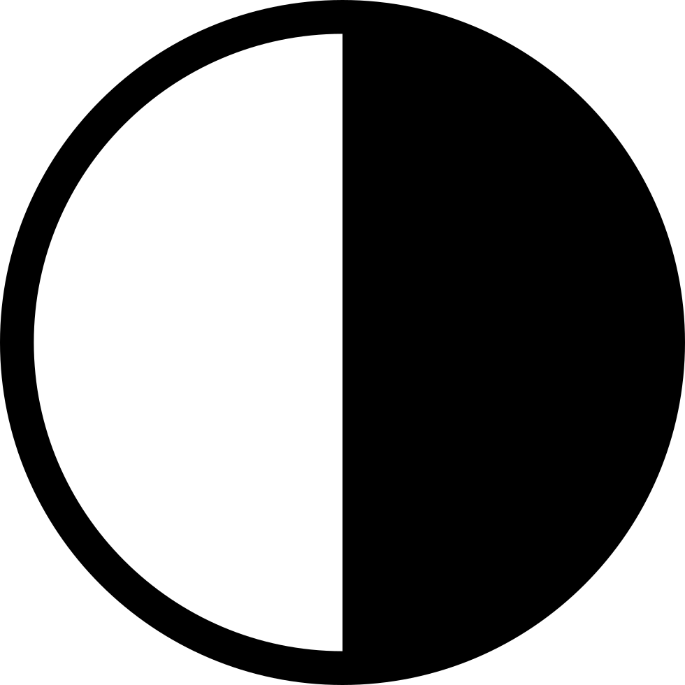 Light and darkness clipart png freeuse stock Moon Half Visible Face On Light And Half On Darkness Svg Png ... png freeuse stock