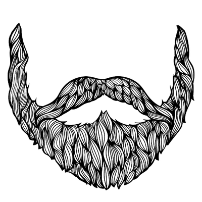 Light beard clipart clip black and white library Grey Black Beard transparent PNG - StickPNG clip black and white library