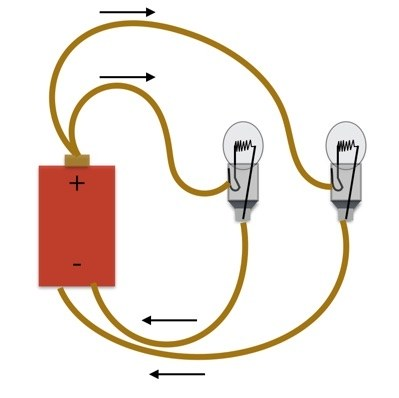 Light bulb battery clipart vector freeuse stock Are Christmas Lights in Series or Parallel? | WIRED vector freeuse stock