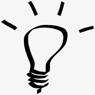 Light bulb black and white clipart free image black and white stock Uncategorized - Light Bulb Idea Black And White #1032403 - Free ... image black and white stock