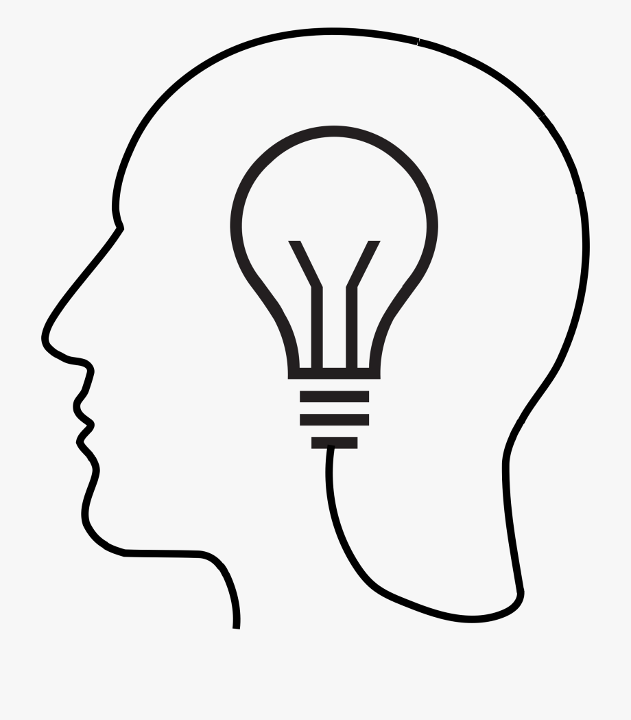 Light bulb brain clipart black and white clip freeuse Clipart Light Bulb Silhouette Big Image Png - Brain With Lightbulb ... clip freeuse