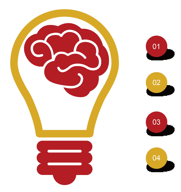Light bulb with heart clipart clipart Logo Education Teacher School - Creative light bulb ppt chart 2106 ... clipart