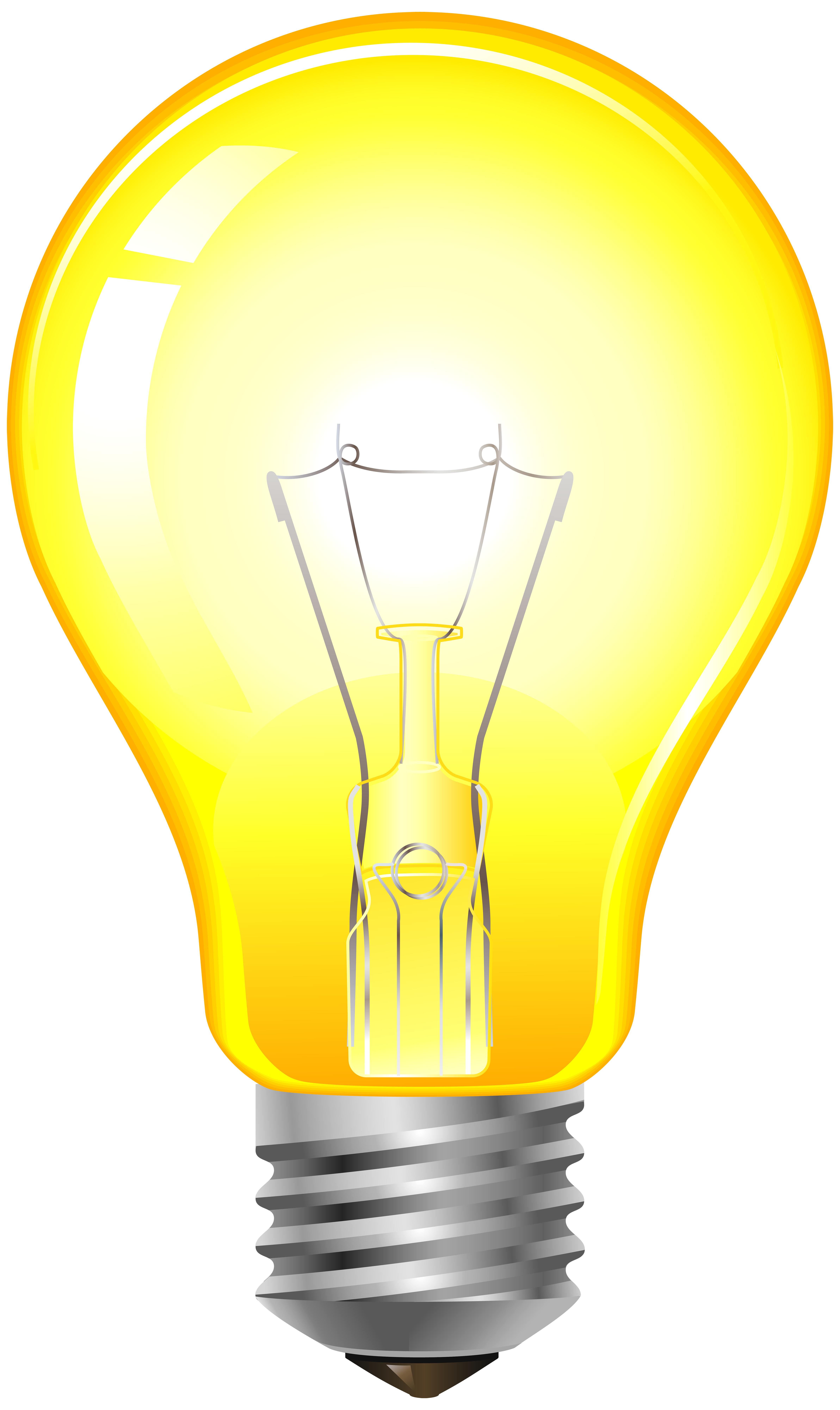 Light bulb with heart clipart graphic freeuse library Yellow Light Bulb PNG Clip Art - Best WEB Clipart graphic freeuse library