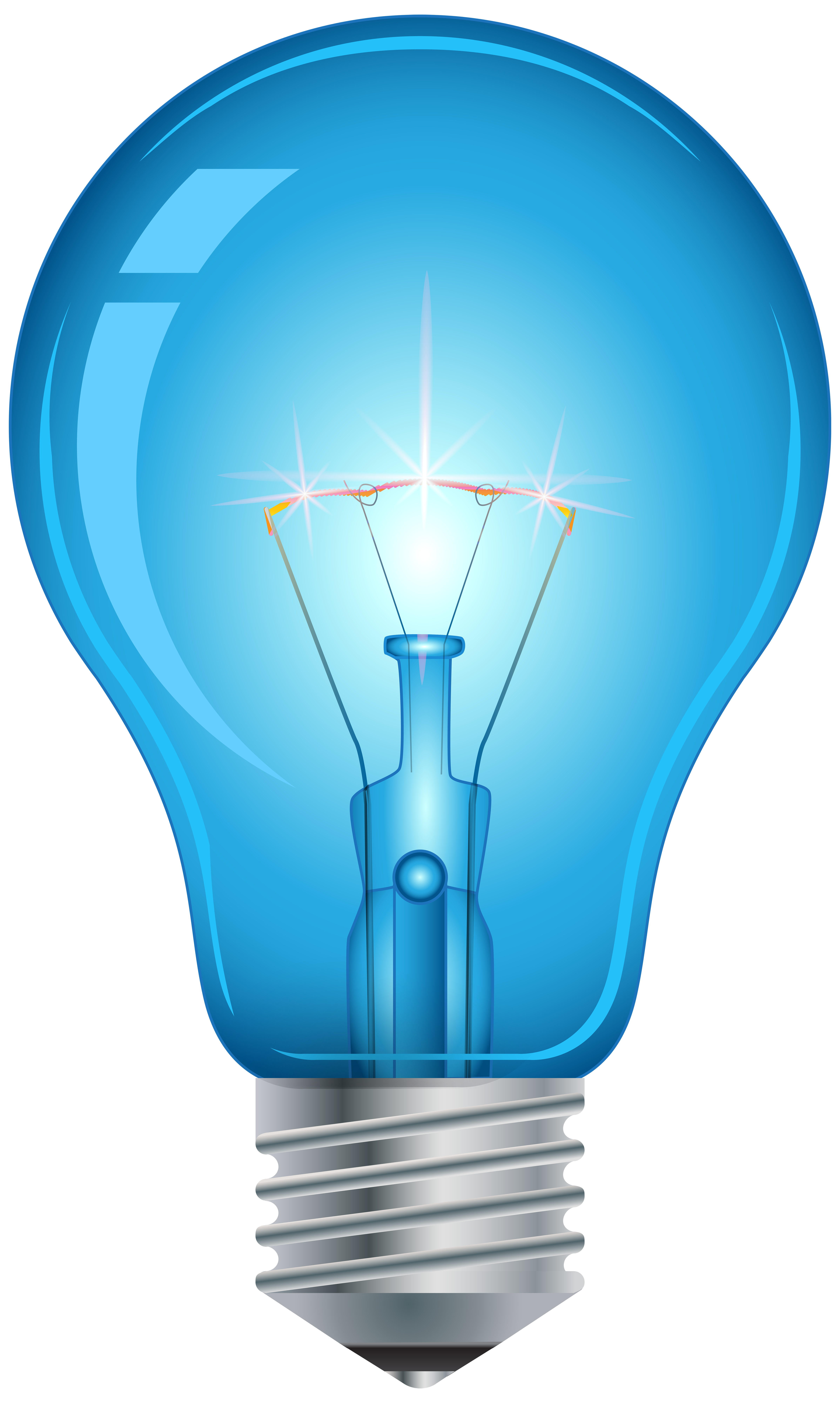 Light bulb with heart clipart svg black and white Blue Light Bulb PNG Clip Art - Best WEB Clipart svg black and white