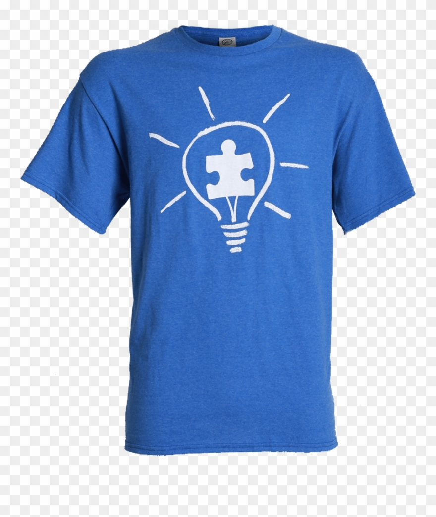 Light it up clipart png stock Autism Speaks Adult Light It Up Blue T-shirt Light - Goodyear T ... png stock