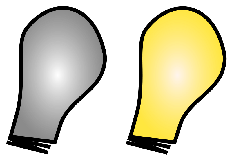 Light on off clipart jpg stock Free Clipart: Simple Light Bulb on/off | sanja jpg stock