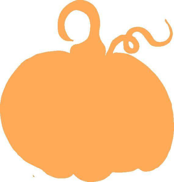 Pumpkin and ivy clipart black and white clip art freeuse Light Orange Pumpkin Sihouette Clip Art at Clker.com - vector clip ... clip art freeuse