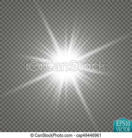 Light starburst cliparts banner download Glow light effect. Starburst with sparkles on transparent background.  Vector illustration. banner download