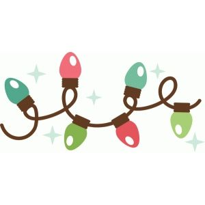 Light strand clipart clipart black and white stock Silhouette Design Store: christmas lights strand | 2 Scrapbooking ... clipart black and white stock