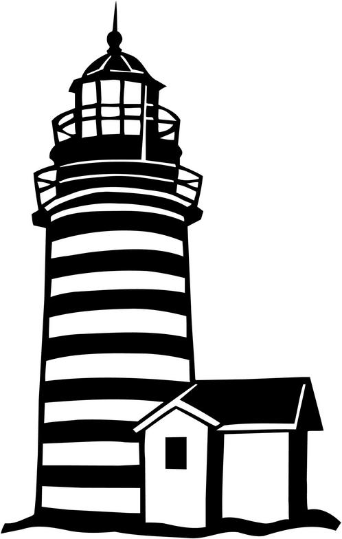 White lighthouse images clipart svg royalty free library Black And White Lighthouse Clipart | Free download best Black And ... svg royalty free library