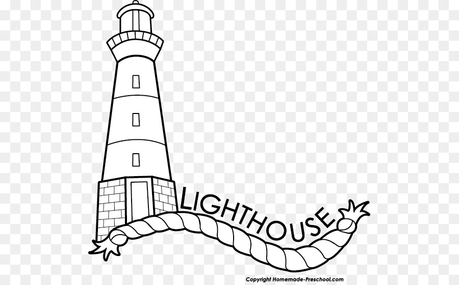 Lighthouse clipart black and white clip black and white Black And White Line Art png download - 553*555 - Free Transparent ... clip black and white