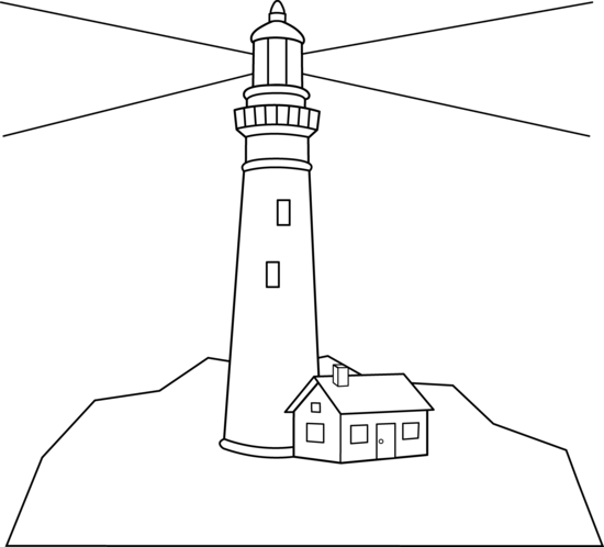 Lighthouse with waves clipart black and white jpg library download Free Lighthouse Clipart, Download Free Clip Art, Free Clip Art on ... jpg library download