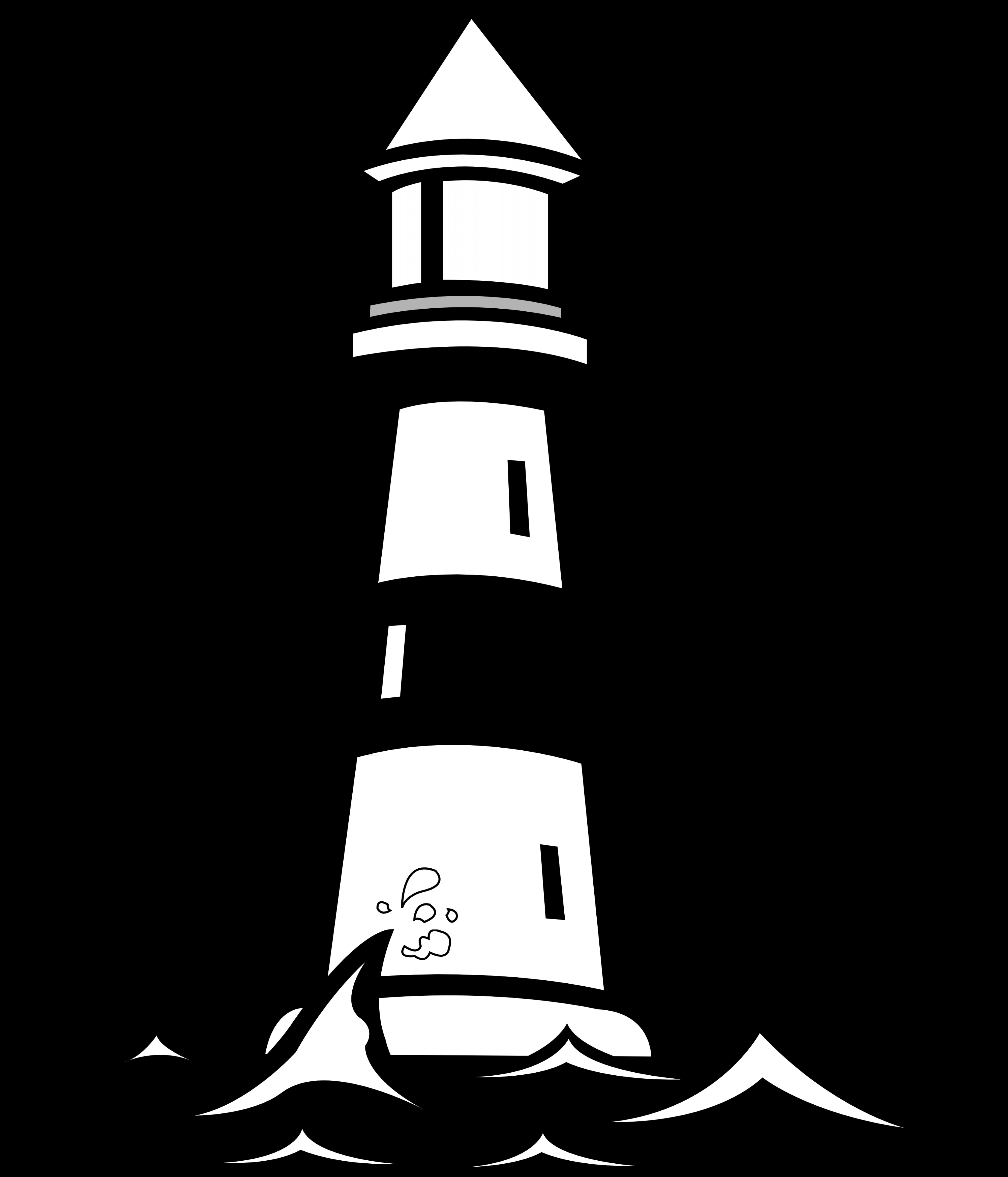 Lighthouse with waves clipart black and white svg black and white download Light House Clipart Black And White | SOIDERGI svg black and white download
